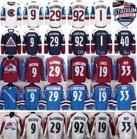 Wholesale Gabriel Landeskog Jersey - Colorado Avalanche Jerseys Winter Classic Ice Hockey 92 Gabriel Landeskog 9 Matt Duchene 19 Joe Sakic 29 Nathan MacKinnon 1 Semyon Varlamov