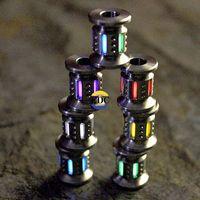 floresan boncuk toptan satış-Açık TC4 Titanyum Trityum EDC Aydınlık Aydınlatma Floresan Işık Büyüyen Işık Kordon Bıçak Boncuk kolye Cep Çok Araçları