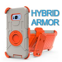 Wholesale White Finger Light Rings - Hybrid Armor Defender Cases With Belt Clip, Kickstand and Finger Ring Bracket For iPhone and Samsung.