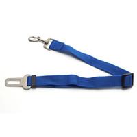 Wholesale chain restraints - Adjustable Practical Dog Pet Car Safety Leash Seat Belt Harness Restraint Collar Lead Travel Clip-Black Red Blue Dog Accessories L035