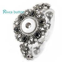 Wholesale Silver Ring Singapore - Wholesale-P00711 Neweset Snap Button Bracelet&Bangles Newest Design Chain Antique Silver Plated Vintage Bracelet FIt Snap Button Jewelry