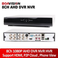 Wholesale Dvr Hdd Hdmi - H.264 Full HD 1080P 8CH AHD DVR Video Recorder With HDMI Output Support 1*4TB HDD Hybrid DVR NVR 1080P 960H Playback 8Ch CMS P2P Mobile View