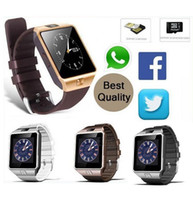 Wholesale Cheap Bluetooth For Cell Phones - 2016 hot cheap Mix 3Colors Smartwatch DZ09 Bluetooth Smart Watch With SIM Card For Apple Samsung IOS Android Cell phone