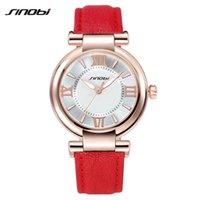 Wholesale Elegant Sinobi Ladies Watch - Sinobi Brand Luxury Ladies Elegant Fashioin Dress Gift Quartz Watch With Leather Strap, Women relogio feminino