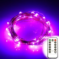 Wholesale Flexible Copper Wire - 16.4ft 5M 50LEDS Battery Operated Led String Remote Contol LED String Lights Flexible Copper Wire String Light LED Starry Lights Fairy Light