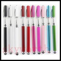 apfel-handy-stift großhandel-2 in 1 kapazitiver Schreibkopf-Noten-Schreibtinten-Stift für iphone 5 5SE 6 6S plus ipad Noten-Mobiltelefon