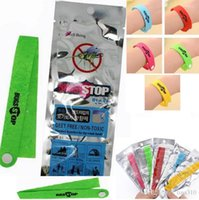 Wholesale Mosquito Repellent Wristbands - New Mosquito Repellent Band Bracelets Anti Mosquito Pure Natural Baby women and men Wristband Hand Ring 4076
