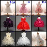 Wholesale Printed Princess Dresses Holiday - Wholesale baby girls wedding dress toddler girl's holiday dresses kids ball gown infant christmas birthday 100 day's tutu princess skirts