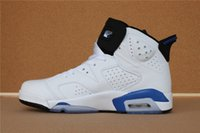 Wholesale Aa Basketball - Air Retro 6 VI Sport Blue White Man Women Basketball Shoes AA High Quality Version Wholesale Size US 5.5 13 Wholesale Sneakers
