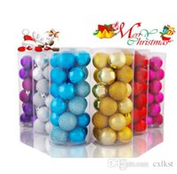 Wholesale Christmas Ball Ornaments Sale - 24pcs 4-8CM Christmas Xmas Tree Hanging Pendants Decoration Bauble Colored ball Good Quality Brand New Hot Sales