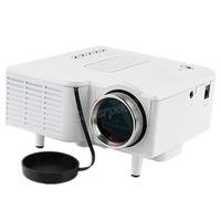 projektor hdmi eingang geführt großhandel-UC28 + Pico LED Digital Video Spiel Kino Projektoren Multimedia Player Eingang AV VGA USB SD HDMI Projektor Eingebauter Lautsprecher Daten Show Free DHL