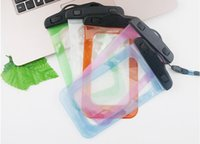 Wholesale Waterproof Cellphones Cases - Outdoor PVC plastic sport cellphone protection waterproof bag for smart phone