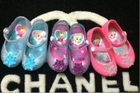 Wholesale Zapatos Flower Girl - 2016 children shoes kids sandals mini melissa girls sandals elsa anna shoes jelly toddler Christmas girls shoes sandals zapatos