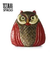 Wholesale Owl Brand Handbag - Factory direct brand handbag new European style handmade Vintage owl animal shape women backpack bag personality fashion ladies bag