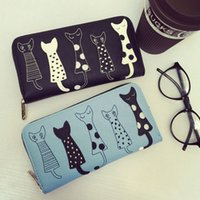 Wholesale New Style Wallets For Girls - Fashion NEW 2016 Cat style wallets for women PU leather wallet girl coin purse lady handbags