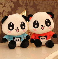 Wholesale christmas stuffed panda bear - 22CM Happy Toys Lovely Panda Plush Toy Lovely Doll Stuffed toy Perfect Gift For Children