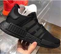 Wholesale Nipple Toe - New NMD Japan Pack Triple White Triple Black Real Boost NMD R1 Primeknit Running Shoes Small nipples Boost