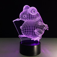 Wholesale Mice Shipping Boxes - 2016 Mice Mouse 3D Optical Illusion Lamp Night Light DC 5V USB AA Battery Wholesale Dropshipping Free Shipping Retail Box