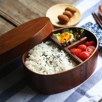Wholesale Moq One Piece - Oval Wood Lunch Box Pastry Box 17.5*13*6.5CM Brown Ash Wood Sushi Lunch Box Capacity 501-800ML Japanese Korean Style Wholesale MOQ:6 Piece