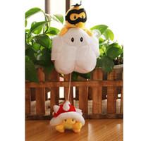 Wholesale Mario Bros Lakitu Plush - 5pcs lot 42CM Super Mario Bros Lakitu Spiny Plush Toy Mario Figure Toy for children's birthday party gift