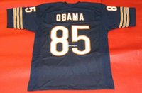 Wholesale Presidents States - Cheap retro #85 BARACK OBAMA CUSTOM 1985 JERSEY POTUS UNITED STATES PRESIDENT bule Mens Stitching Throwback Size S-5XL Football jerseys