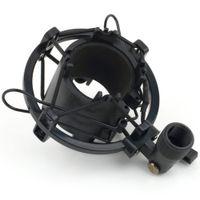 Wholesale mic shock mount - Black SilverT2 3KG Bearable Load Mic Microphone Shock Mount Clip Holder Stand Radio Studio Sound Recording Bracket Professional 43-50MM