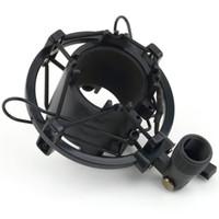 suporte para grampo de montagem venda por atacado-Preto / SilverT2 3 KG Carregável Carregável Microfone Microfone Shock Mount Suporte de Clipe de Suporte de Gravação de Som Estúdio de Rádio Profissional 43-50 MM
