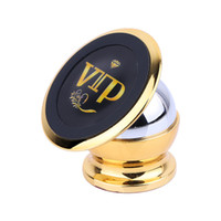 Wholesale Gold Frame Phone - Mobile Phone Holder Magnet Bracket 360 Degree Magnetic Phone Stand Car Phone Stand Car Navigation Frame