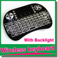 Wholesale Rf Wireless Mouse Keyboard - i8 Wireless keyboards Black 2.4G RF mini i8+ Wireless Keyboard Touch Pad mouse Backlit gaming Keyboard for HTPC Tablet Laptop PC OM-D5
