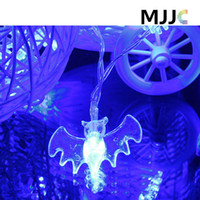 Wholesale Christmas Decorations For Windows - Bat Shape Led String Light Battery Operated 2M 20 LEDS for Garden Window Tree Party Festival Halloween Decoration