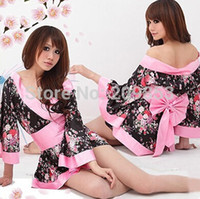 Wholesale Sexy Taste - Wholesale- Robe Sexy Nightwear Nightdress Sexy Lingerie Japanese Cherry Blossom Kimono Improved Taste High Quality Home Furnishing Clothing