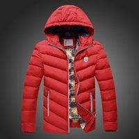 Wholesale Cheap Parka Jackets Men - Wholesale- 2016 Mens Casual Winter Jacket Coat High Quality Male Cheap Fashion Warm Cotton Parka Padded Thick Hooded Jackets