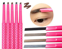 Wholesale Twist Eyes - Newest Waterproof Twist Up Eyebrow Eyeliner eye brow Liner Pencil Makeup Tool Cosmetic long lasting 5colors women gift custom logo