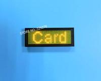 led-boards für werbung großhandel-Gelbe LED-Namensschilder mit USB-Funktion wiederaufladbar / Edit By PC / Message Advertising Sign Board World-Language