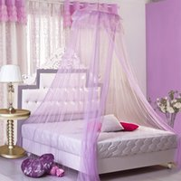 Wholesale Doors Canopy - 65*260*1150Cm High Density Mosquito Net Bed Net Hanging Mosquito Curtain Round Shape Soft Mosquitoes Nets With Hook Bed Canopy Netting