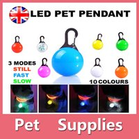 Wholesale Colours Dress Shirts - Dog Cat LED Safety Night Light Flashing Colour Buckle Collar Pet Luminous Bright With 10 Colors