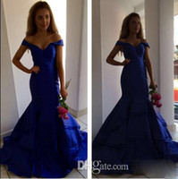Wholesale Layered Evening Gowns Plus Size - Sexy Mermaid Arabic Prom Dress Sexy Sweetheart Vintage Off Shoulder Backless Layered Ruffles Royal Evening Party Gown For Women Formal