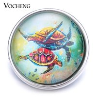 Wholesale Turtle Clasp - VOCHENG NOOSA Wholesale Turtle Interchangeable Jewelry 18mm Glass Snap Button Vn-1260