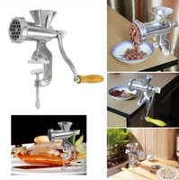 Wholesale Cast Iron Manual sausage Meat Grinder Mincer Table Hand Crank Tool for Kitchen Aluminum Alloy Meat Grinders