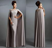 robes nobles achat en gros de-Noble Arabia Vintage Robes De Soirée Jewel Sheer Neck Avec Watteau Train Robes De Bal Avec Applique Gaine Custom Made Robes De Soirée Formelle