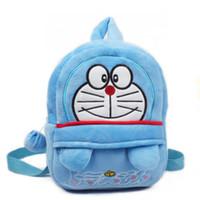 Wholesale Doraemon Birthday - C3 Doraemon Birthday gift toy backpacks school bags for boy Cartoon kindergarten Plush children school bags mochilas infantis