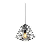 Wholesale Warehouse Cage - Nordic Diamond Vintage Loft Pendant Lamp Iron Cage Industrial Pendant Light Bar Warehouse Dining Hall Fixture Lighting