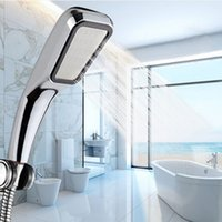 Wholesale Shower Faucet Nozzle - Shower Head 300Hole Water Saving Square ABS With Chrome Plated Bathroom Rainfall Shower Nozzle Aerator High Pressure Shower Head