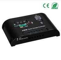 temporizadores de 24v al por mayor-20A / 10A Regulador de carga solar Batería Regulador 12V / 24V LightTimer Cargador panel solar EC LED solar lámpara de calle controlador