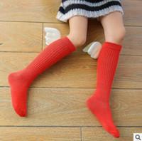 Wholesale Korea Baby Socks - Kids Socks Top Quality 3D Korea Cartoon Angel Wings Baby Cotton Knee High Kids Wings Socks Baby Leg Warmers Girl Fashion Socks