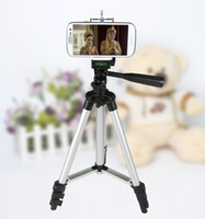 Wholesale Compact Camera Tripods - Free Shipping + Universal High Quality Portable Tripod 4 Sections +Phone holder for Mobilephone Canon Sony Nikon Compact Camera