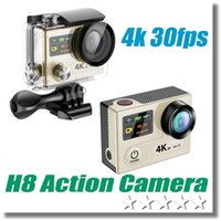 Wholesale lcd camera hdmi online - Free DHL H8 Ultra HD K fps Video Action Camera Degree Waterproof Wifi Control HDMI