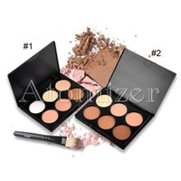 Wholesale Mixed Trim - 6 Colors Concealer Palette Blush Trimming Makeup Contour Face Powder Palette Foundation Makeup Concealer Palette with Brush