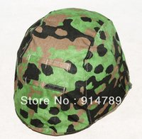 Wholesale Helmet Camo - Wholesale-WWII GERMAN PLANE TREE CAMO M35 REVERSIBLE HELMET COVER -31666