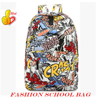 Wholesale Cool Canvas Art - Fashion Backpack For Woman Harajuku Backpack 3D Printing Travel Bags Cool School Bag For Lady out089